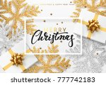 christmas background with gifts ... | Shutterstock . vector #777742183
