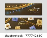 christmas banner  xmas... | Shutterstock . vector #777742660
