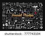 social media icons set. vector... | Shutterstock .eps vector #777743104