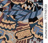 tracery seamless pattern.... | Shutterstock .eps vector #777745723