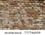 aged red brick wall | Shutterstock . vector #777746959