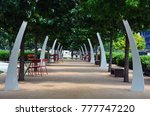 Live Oak Trees Shade Seating I...