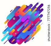 geometric abstract gradient... | Shutterstock .eps vector #777747256
