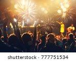 new year concept   cheering... | Shutterstock . vector #777751534