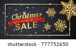 christmas sale banner template...   Shutterstock .eps vector #777752650