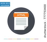html webpage document file... | Shutterstock .eps vector #777753400