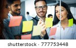 collaboration and analysis by... | Shutterstock . vector #777753448