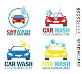 set of car wash service logo...   Shutterstock .eps vector #777753538