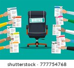 office chair and sign vacancy.... | Shutterstock .eps vector #777754768