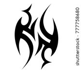 tattoo tribal vector design.... | Shutterstock .eps vector #777758680