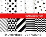 seamless pattern set. vector... | Shutterstock .eps vector #777760348