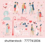 valentine's day vector greeting ... | Shutterstock .eps vector #777761836