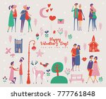valentine's day vector greeting ... | Shutterstock .eps vector #777761848