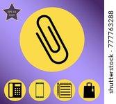 paper clip vector icon. flat... | Shutterstock .eps vector #777763288
