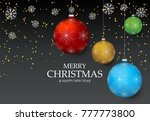 christmas light vector... | Shutterstock .eps vector #777773800