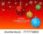 christmas light vector... | Shutterstock .eps vector #777773803