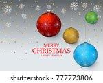 christmas light vector... | Shutterstock .eps vector #777773806