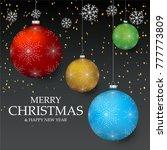christmas light vector... | Shutterstock .eps vector #777773809