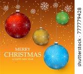 christmas light vector...   Shutterstock .eps vector #777779428