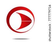 red circle arrow vector icon...