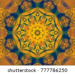 abstract illustration orange... | Shutterstock . vector #777786250