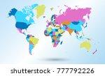 color world map vector | Shutterstock .eps vector #777792226
