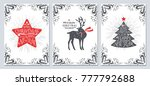 christmas and new year greeting ... | Shutterstock .eps vector #777792688