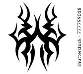 tattoo tribal vector design.... | Shutterstock .eps vector #777799018