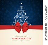 christmas invitation card with... | Shutterstock .eps vector #777802504