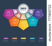 vector infographic of... | Shutterstock .eps vector #777805723