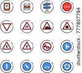 line vector icon set   parking... | Shutterstock .eps vector #777807784