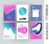 brochure layout with fluid... | Shutterstock .eps vector #777808810
