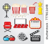 film industry. production of... | Shutterstock .eps vector #777811648