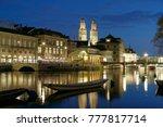 River Limmat Grossmunster Zurich Switzerland - Fine Art prints