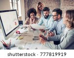 successful business group... | Shutterstock . vector #777819919
