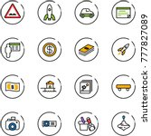 line vector icon set   rough... | Shutterstock .eps vector #777827089