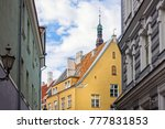 antique building view in old... | Shutterstock . vector #777831853