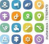 flat vector icon set   pointer... | Shutterstock .eps vector #777839470