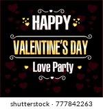happy valentine's day | Shutterstock .eps vector #777842263