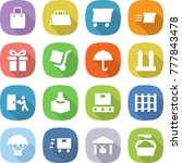 flat vector icon set   shopping ... | Shutterstock .eps vector #777843478