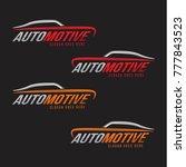 automotive line premium logo... | Shutterstock .eps vector #777843523