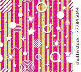 seamless bright geometric... | Shutterstock .eps vector #777845044