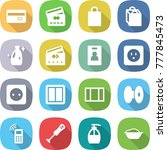 flat vector icon set   credit... | Shutterstock .eps vector #777845473