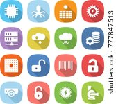 flat vector icon set   chip... | Shutterstock .eps vector #777847513