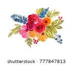 a beautiful bright bouquet of... | Shutterstock . vector #777847813