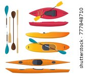 set of sea and whitewater... | Shutterstock .eps vector #777848710