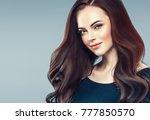 beauty woman face portrait.... | Shutterstock . vector #777850570