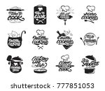 cooking logos set. healthy... | Shutterstock .eps vector #777851053