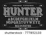 font alphabet script typeface...   Shutterstock .eps vector #777852133