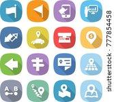 flat vector icon set   flag... | Shutterstock .eps vector #777854458